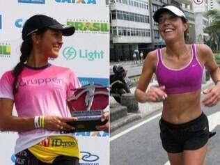 A professora universitária Ana Gorini no pódio ou correndo pelas ruas: o esporte a faz feliz