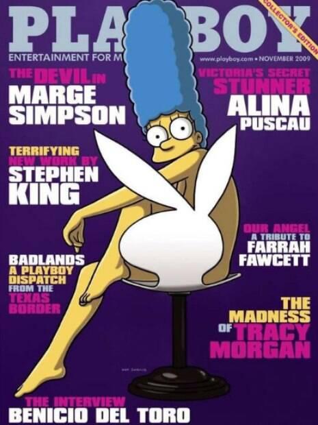 Ilustrar a capa da Playboy dos EUA com a Marge Simpson foi uma tentativa de atrair um público mais jovem para a revista