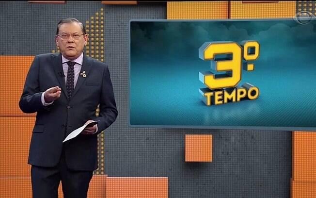 Milton Neves durante o seu programa