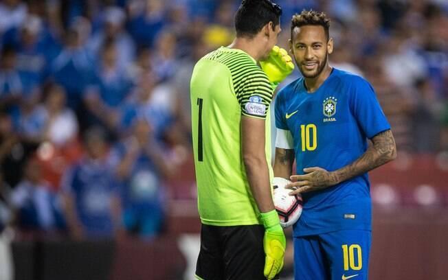 Neymar durante Brasil 5 x 0 El Salvador