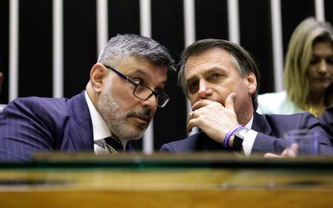 Alexandre Frota com Jair Bolsonaro