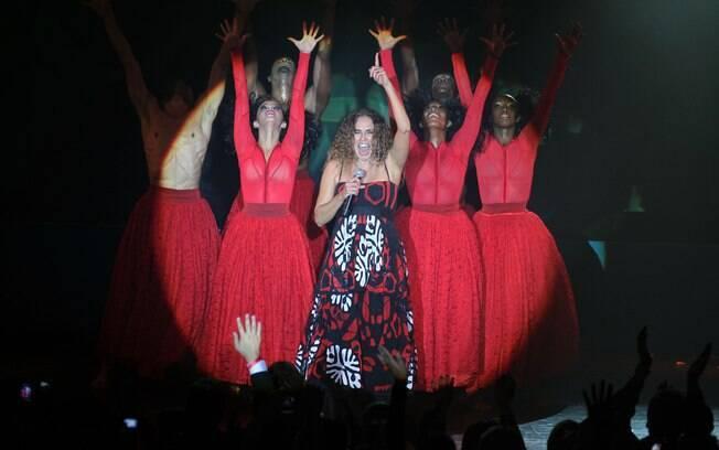 Daniela Mercury em sua apresentação nos Estados Unidos