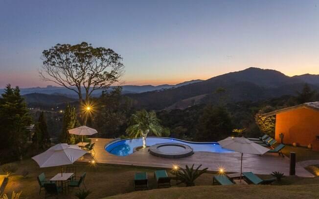 A Pousada Quinta dos Pinhais tem spa e uma vista incrível em Santo Antônio do Pinhal