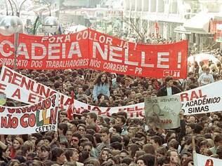 Manifesto. Por todo o Brasil, população foi para as ruas pedir a saída de Fernando Collor e a punição para ele