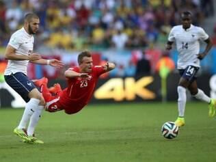 Na Arena Fonte Nova, em Salvador, França goleou a Suíça por 5 a 2, pela Copa do Mundo 2014