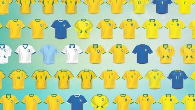 Relembre os uniformes do Brasil em Copas do Mundo