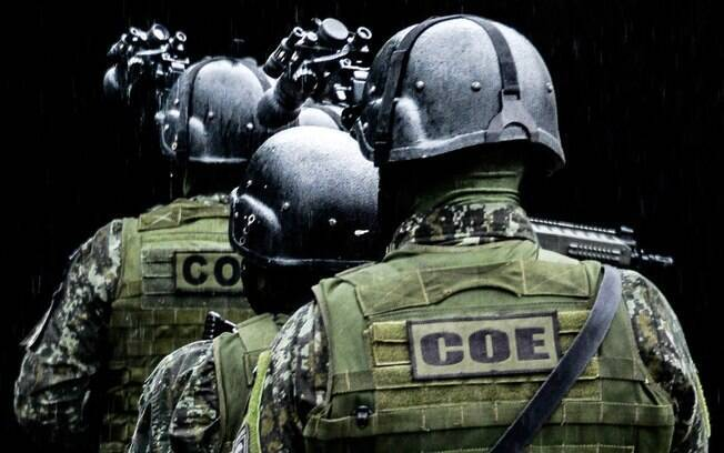 Patrulha noturna de Policiais Militares do COE. Foto: Major PM Luis Augusto Pacheco Ambar