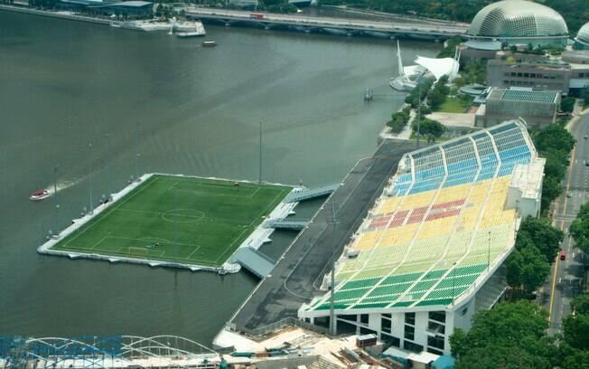 Estádio de futebol Marina Bay, em Singapura
