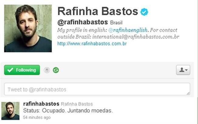 Rafinha Bastos no Twitter