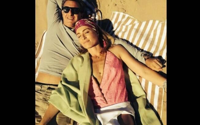 Angélica com o marido, Luciano Huck