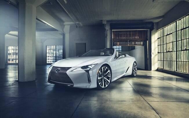 Lexus LC Convertible conceitual deverá ser praticamente igual à versão que será fabricada em série