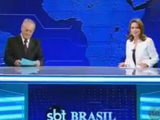 Rachel Sheherazade voltou à bancada do 'SBT Brasil' nessa segunda-feira (14)