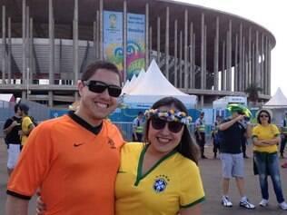 Fábio e Flávia decidiram usar camisas diferentes em um jogo que vale pouco