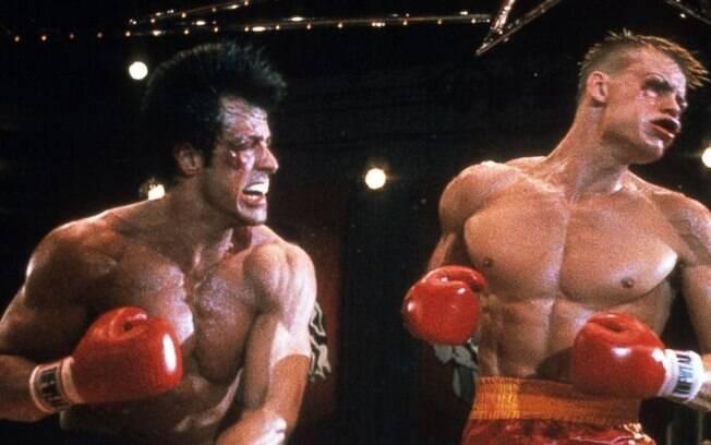 Dolph Lundgren  e Sylvester Stallone no filme