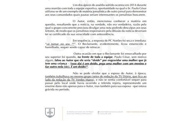 Processo do jornalista Kaio Cézar