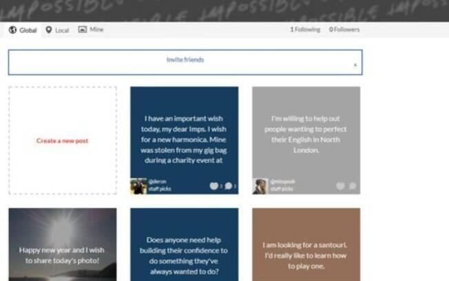 Site permite pedir e oferecer ajuda, sem cobrança
