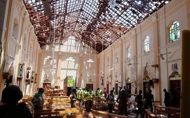 No último domingo de Páscoa (21), ataques contra igrejas e hotéis de luxo no Sri Lanka deixaram ao menos 253 mortos