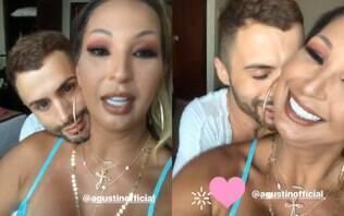 Web cria hashtag contra Valesca após cantora posar com Agustin Fernandez