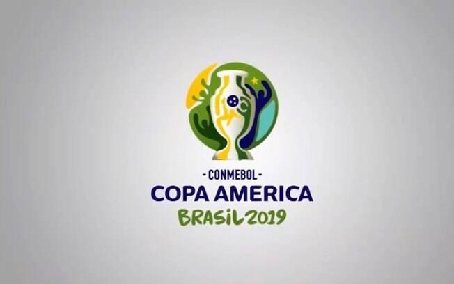 Logo da Copa América 2019. Competição acontece em cinco cidades brasileiras