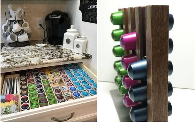 Queridinhas do momento, as cápsulas podem ser acomodadas de maneira criativa no cantinho do café