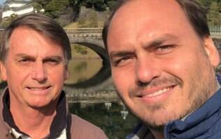 Bolsonaro se recusa a comentar tuítes polêmicos do filho Carlos