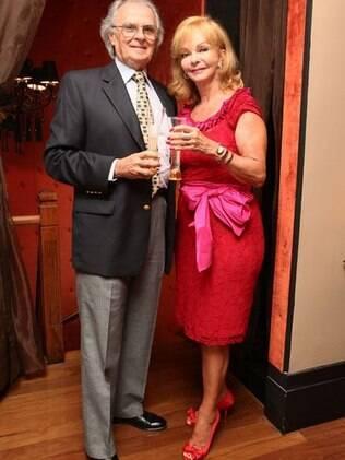 Vera e o marido, Pelino, em um evento da Veuve Clicquot, em fevereiro