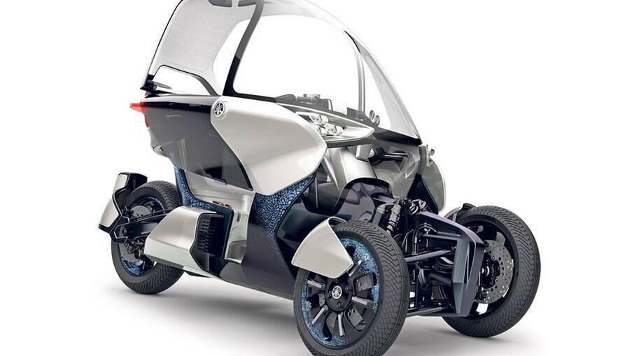 Triciclo conceito  Yamaha MW-Vision servirá de base para o novo triciclo híbrido da marca japonesa