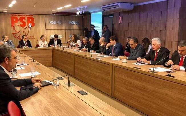 Reunião da oposição que defendeu a instalação da Comissão Parlamentar Mista de Inquérito (CPMI) para investigar Moro