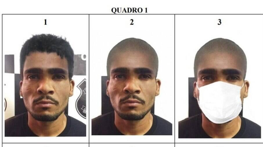 Projeções de disfarces de Lázaro Barbosa de Sousa, feitas pela Polícia Civil do DF
