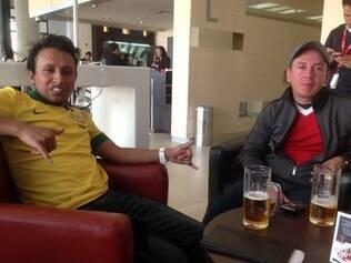 Fãs de Ronaldinho utilizaram a desculpa de almoçar em hotel onde está hospedada a delegação alvinegra