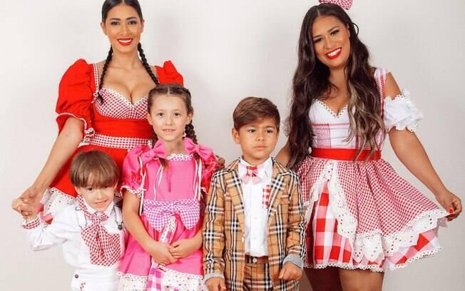 Simone, Simaria e os filhos