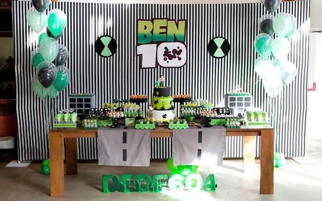 Com quase dez anos de estrada, Ben 10 continua sendo um dos personagens mais pop nas decorações de festas de meninos