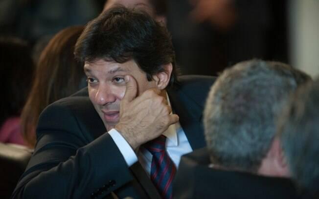 O prefeito Fernando Haddad: ameaçado de perder cargo por suposta negociação com traficantes
