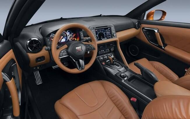 Nissan GT-R 2019 é sofisticado por dentro, como poderá ser visto ao vivo no Salão do Automóvel 2018