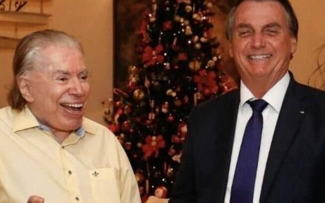 Silvio Santos recebe homenagem de Jair Bolsonaro