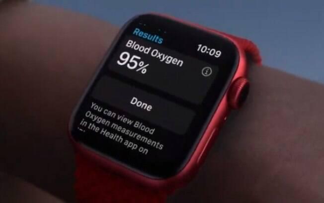 Apple Watch Series 6 consegue medir a oxigenação do sangue
