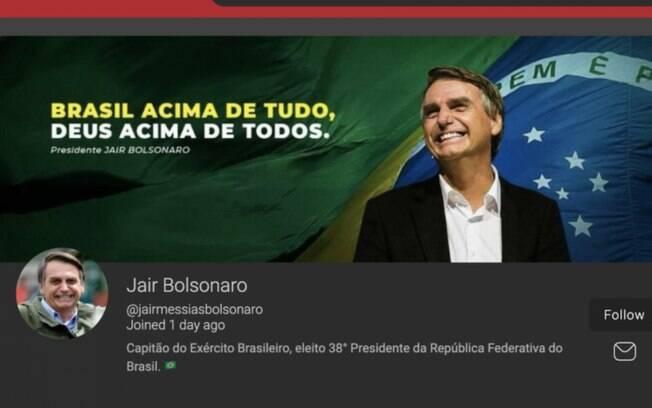 Perfil de Jair Bolsonaro no Parler