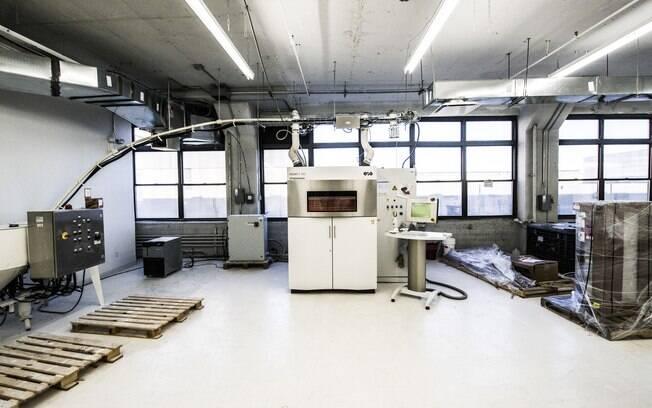 Área de impressão da Shapeways