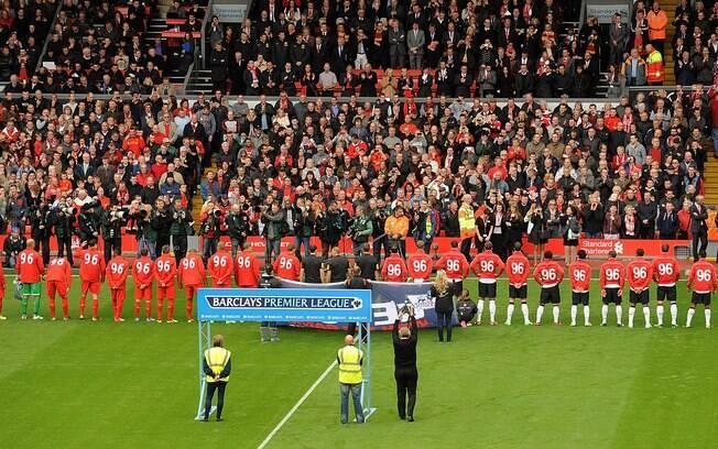 Jogo contra o Liverpool na quinta rodada  ficou marcado pela homenagem aos 96 mortos no  desastre de Hillsborough