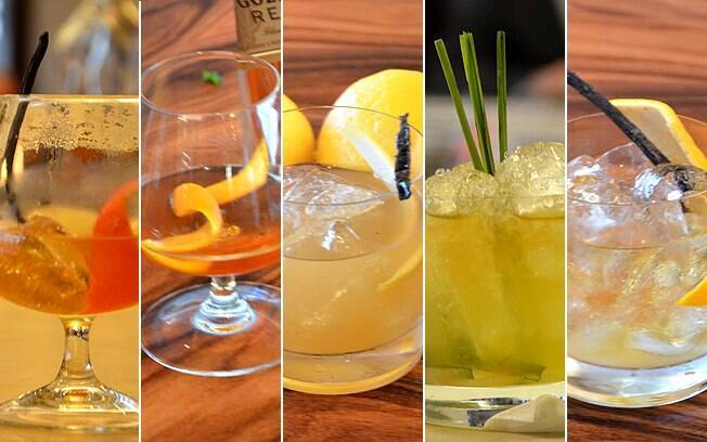 Drinques feitos com uísque de Jairo, Kennedy, Laércio, Matheus e Patrick