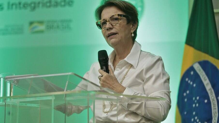Ministra da Agricultura, Tereza Cristina, anunciou novos valores em cerimônia nesta terça-feira (22)