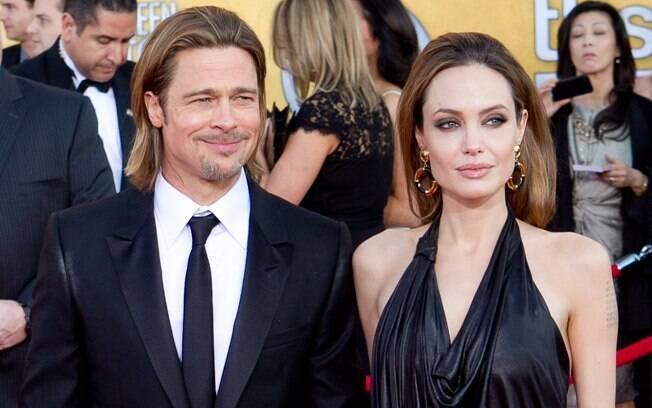 12 ANOS: Angelina Jolie (38 anos) e Brad Pitt (49). Foto: SplashNews