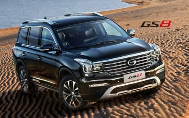GS8: O SUV será outra aposta da fabricante chinesa no mercado norte-americano  a partir do ano que vem