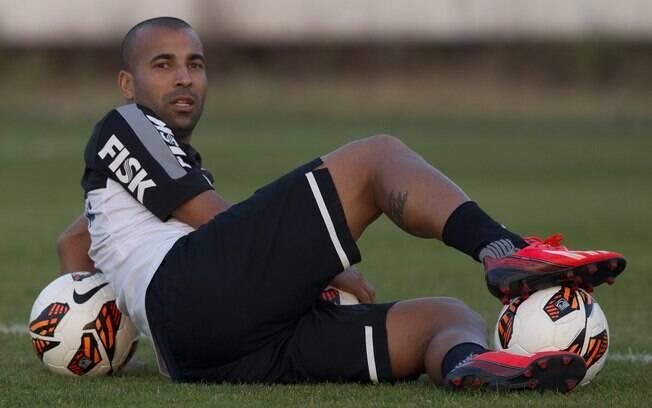 Sheik no treino de 16 de julho, quando  renovou com o Corinthians