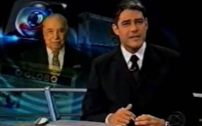 Em 2003, quando o dono da Rede Globo, Roberto Marinho, morreu, William Bonner apresentou uma homenagem durante o 'Jornal Nacional'...
