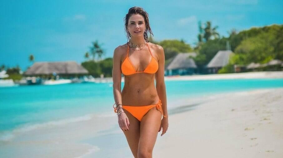 Corpo sequinho de Luciana Gimenez chamou atenção dos seguidores, que elogiaram