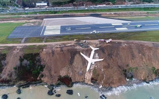 Acidente ocorreu quando avião pousava no aeroporto de Trabzon, na Turquia