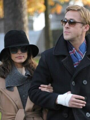 Eva Mendes e o namorado Ryan Gosling