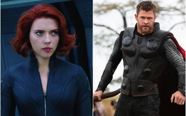 Pesquisa aponta que os personagens de Vingadores que os brasileiros mais levariam para a cama são Viúva Negra e Thor