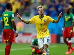 Neymar foi o grande nome do Brasil na vitória desta segunda-feira